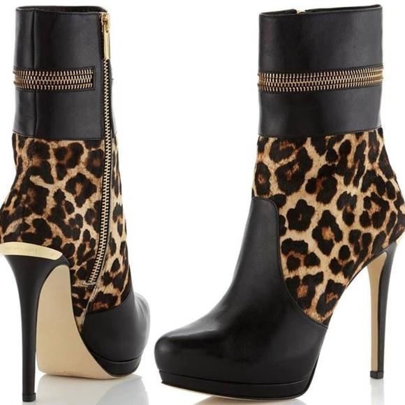 Michael Kors Leopard Booties Boots